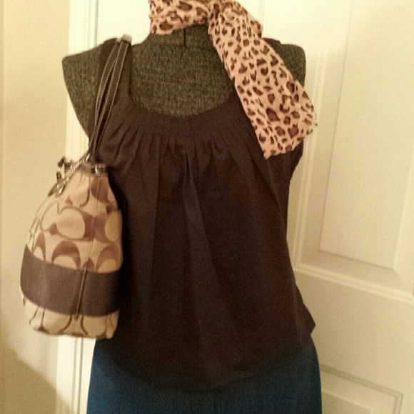 27e5641ce8914e SALE     NWT Talbot Shell Top in Chocolate Size 12
